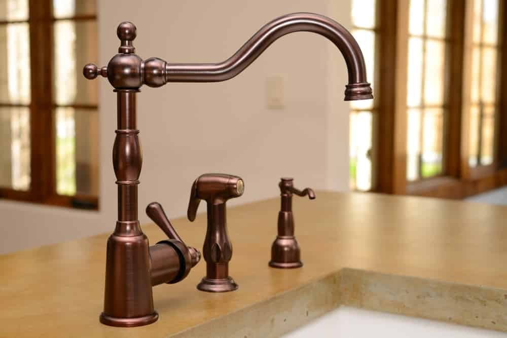 Commercial Style Kitchen Faucet Bronze