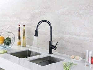 "Decor Star TPC11-TO Contemporary 16"" Pull Down Spray Kitchen Sink Faucet"