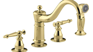 Kohler K-158-4-PB Antique Kitchen Sink Faucet Review