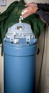 How does a water softener system work