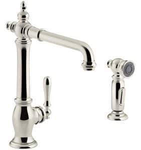 KOHLER K-99265-SN Artifacts Kitchen Sink Faucet