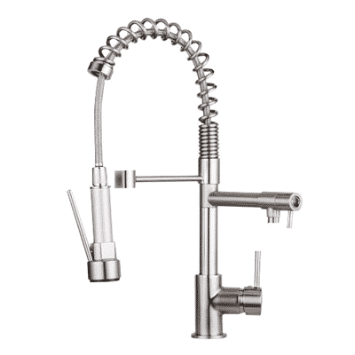 Ollypulse Kitchen Faucet-Solid Brass Brushed Nickel Kitchen Faucet